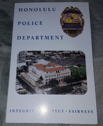 HPD Honolulu Police Department patch with presentation folder NEW!