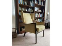 Mid century Parker knoll wingback vintage armchair with matching cushion