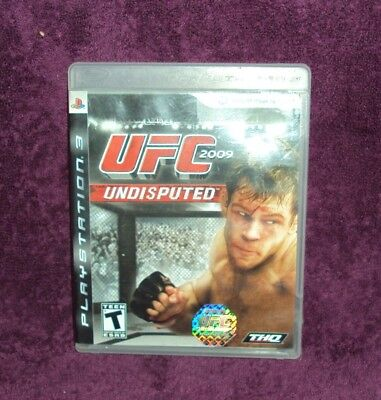 UFC Undisputed 2009 (Sony PlayStation 3, 2009) PS3 Video Game Complete EUC for sale  Shipping to Nigeria