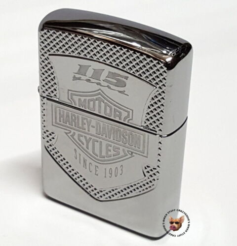 HARLEY-DAVIDSON® 115TH ANNIVERSARY ARMOR ZIPPO LIGHTER POLISH CHROME
