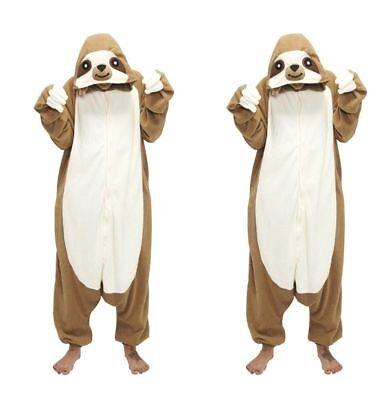 Faultier Sloth Pyjamas Kostüm Jumpsuit Tier Schlafanzug Erwachsene -
