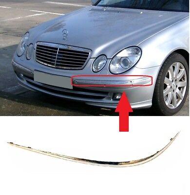 Para Mercedes Benz Clase E W211 02-06 Parachoques Delantero Moldura Cromo Left,/