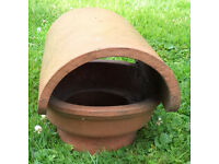 Clay hood top chimney roof cowl