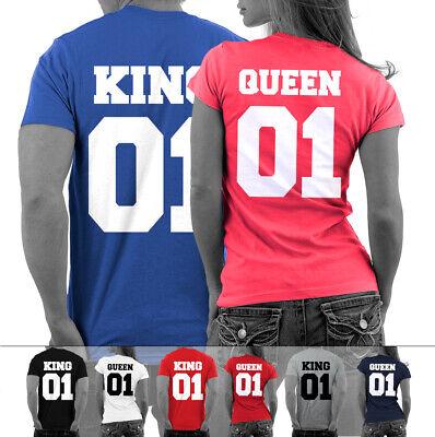 KING oder QUEEN Shirt Pärchen und Paare T-Shirts Pärchenshirts Wunschzahlen NEU