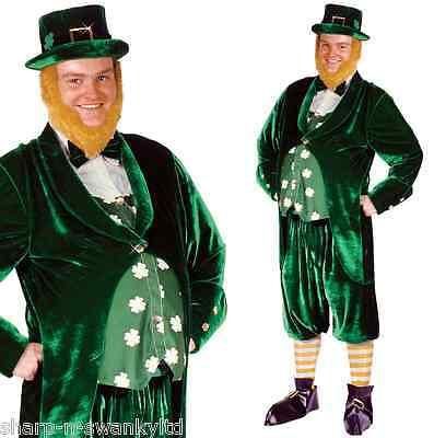 Herren 7 Teile st Patricks Day Kobold Lepricorn Irisch Kostüm Kleid Outfit ()
