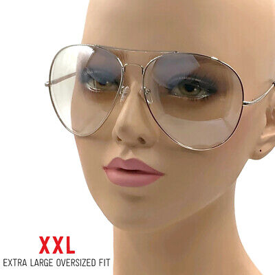 XXL Big Huge Extra Large Aviator Glasses Hipster Vintage Style Retro Clear (Huge Hipster Glasses)