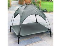 Barkhaus Elevated Pet Bed with Removable Canopy