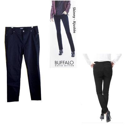 Buffalo David Bitton Womens HOPE Mid-Rise Skinny Pants Black Sz 8 NWT