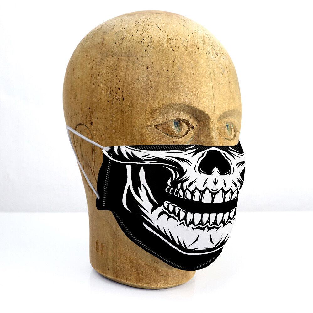 Mund-Maske TOTENKOPF HALLOWEEN SKELETT KOPF HORROR PURGE, Schutz für Mitmenschen