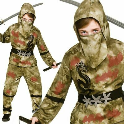 Zombie Ninja Warrior Kids Boys Childs Scary Halloween - Kids Zombie Ninja Kostüm