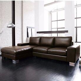 Black Nero Corner Sofa