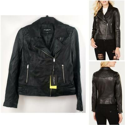 Andrew Marc New York Leah Leather Moto Jacket Black Size L New Marc New York Black Jacket