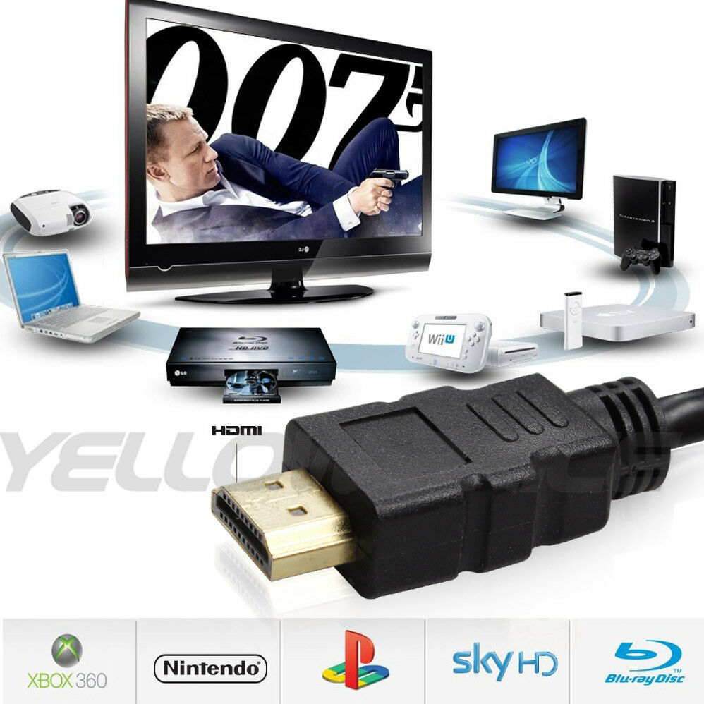 PREMIUM HDMI CABLE For BLURAY 3D DVD PS3 HDTV XBOX LCD HD TV 1080P 3FT-50FT Lot