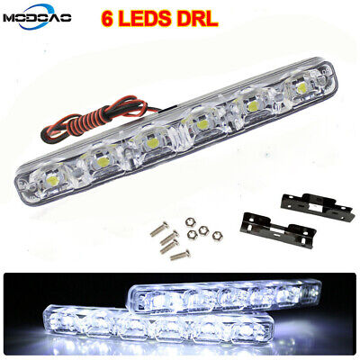 Universal 12V 6 LED Car Daytime Running Light DRL Fog Lamp Day Lights Daylight