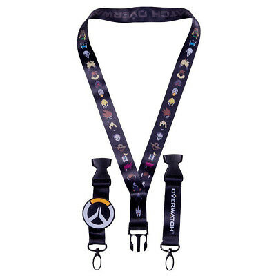 Overwatch Lanyard Logo LED Light Up Charm Double Sided Blizzcon Exclusive Clip](Led Lanyards)