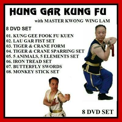 HUNG GAR KUNG FU 8 DVD SET tiger crane butterfly swords 5 animals Kwong Wing Lam