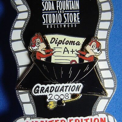 Surprise Graduate (Chip and Dale Graduation 2008 DSF Surprise Release Disney Pin LE 300 OC )
