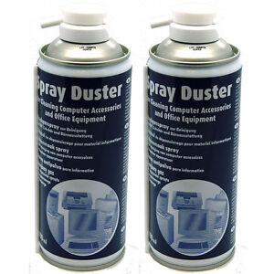 2 x Compressed AIR DUSTER/CLEANER 400ml SPRAY CAN / CANS - Made in Germany NEW