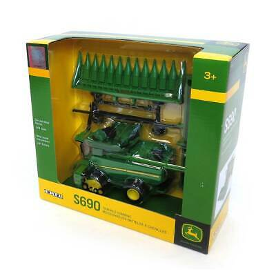 1/64 John Deere S690 Combine on Tracks with Grain and Corn Heads by ERTL LP53303