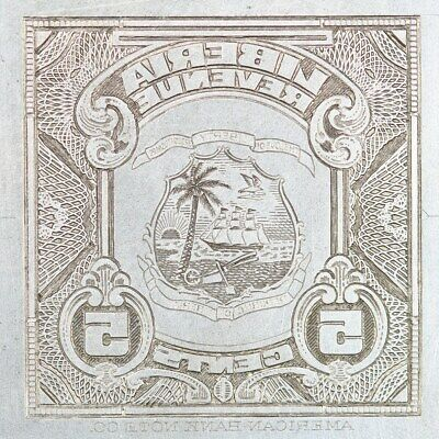 American Bank Note Company: Liberia Printing Plate - ABNC Stamp Plate