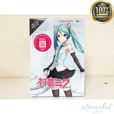 NEW!! CRYPTON VOCALOID4 Hatsune Miku V4X English bundle F/S DVD Software Japan