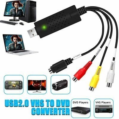 CAPTURADORA de Vídeo Convertidor USB2.0, DVD VHS VCR Digital Grabador WINDOS MAC