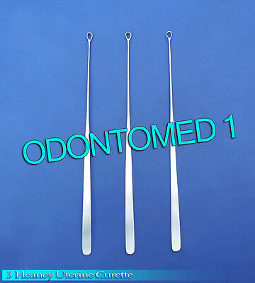 3 Heaney Uterine Biopsy Curette Obgynecology Instruments