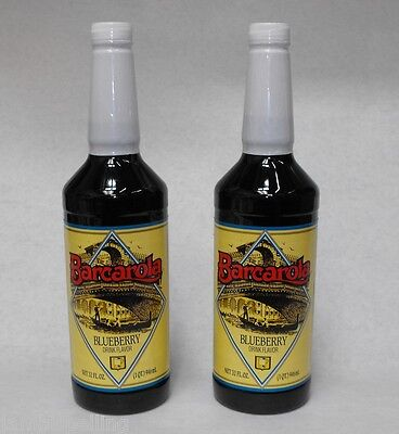 2 Pack Gourmet Blueberry Syrup 32oz. Coffee Drink Italian Soda Flavor