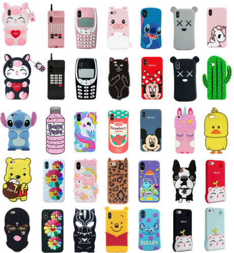 Case Cover For iPhone 5S 7 8Plus XS XR XS MAX Cute 3D Cartoo
