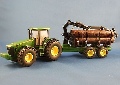 Siku 1954 -  John Deere 8430 Tractor with forestry trailer - Scale 1:50