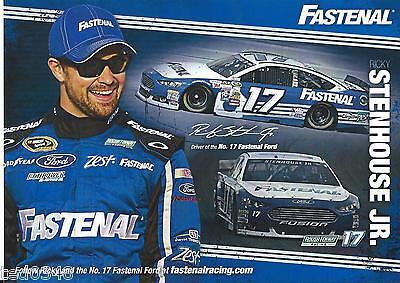 2015 Ricky Stenhouse Jr   17 Fastenal Sprint Cup Postcard