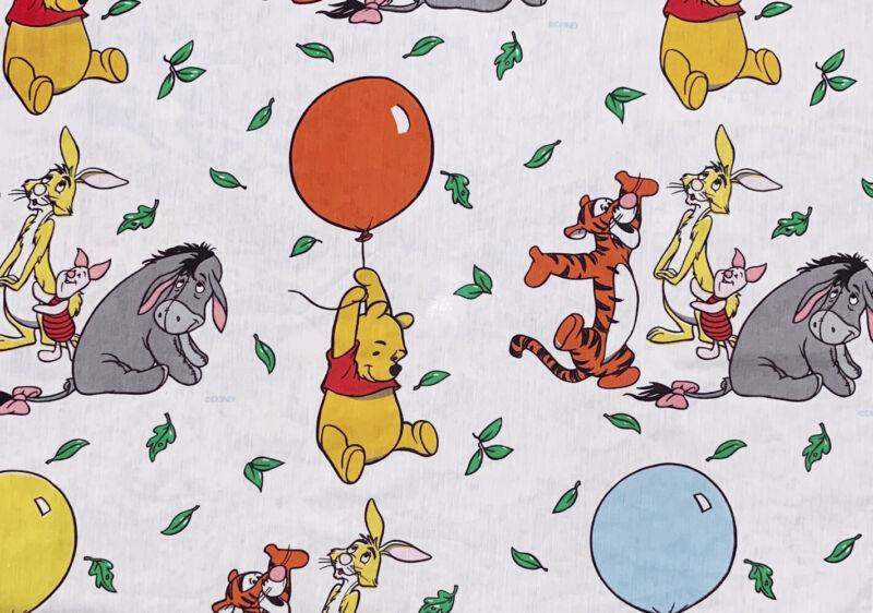 "Vintage Disney WINNIE THE POOH Curtain Panel(62""Lx40""W)by Bibb Co.Multi Balloons"
