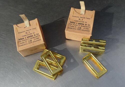 3x stripper / clipp in box* CARCANO ITALIAN * orig. ARMY MADE  * cal.6.5 & 7.35*