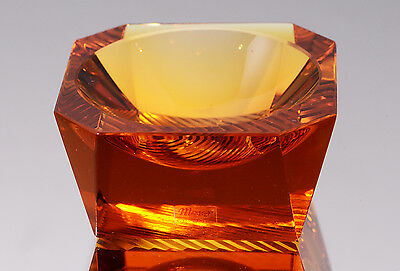 MOSER SMALL AMBER COLORED GLASS DISH