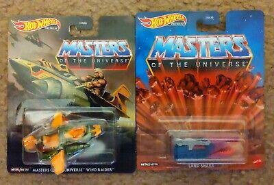 Hot Wheels Masters of the Universe Wind Raider & Land Shark lot of 2 Mattel