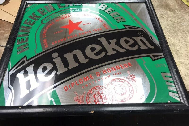 vintage heineken Beer Mirror 22 X25