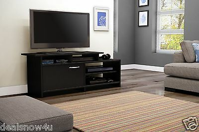 Black TV Stand Flat Screen For 52 Inch Television Entertainment Center dlp 52 30 Dlp Flat Screen Tv
