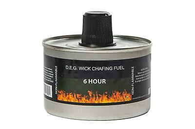 Reusable Chafing Dish Fuel - 6 Hour Burn Time - Relightable Wick - 48 Pack Chafing Dish Fuel