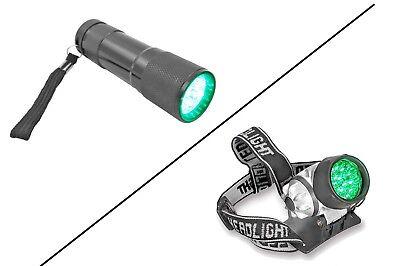 High Intensity LED Green Light Headlight Flashlight Won't Affect Plant Growth