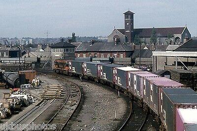 CIE Container train leaving North Wall Yard Dublin Eire Rail Photo