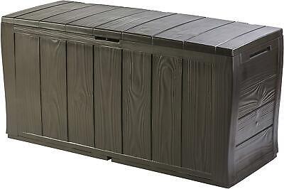 Best Keter Sherwood Outdoor Plastic Storage Box Home Garden Furniture Tools Toys