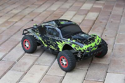 Custom Body Muddy Green for Traxxas Slash 1/10 Shell Baja Bug Truck Car (10 Truck Body Green)