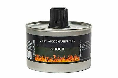 Reusable Chafing Dish Fuel - 6 Hour Burn Time - Relightable Wick - 24 Pack Chafing Dish Fuel