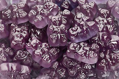 Albanese Concord Grape-Flavored Purple Gummy Bears - 4 POUNDS - FREE -