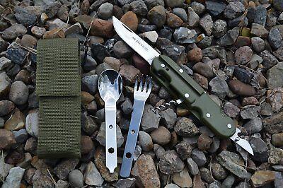Essbesteck Camping Besteck Outdoor Feldbesteck Multifunktionsbesteck + Nylonetui