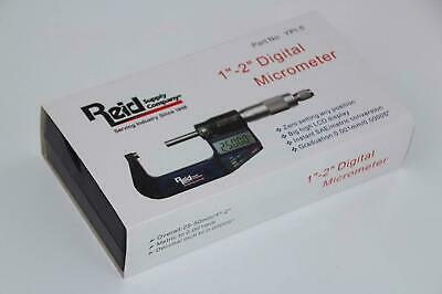 New Reid Digital Micrometer In Fitted Case Range 25-50mm 1-2 - Free Ship