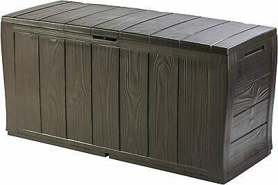 Outdoor Plastic Storage Box Garden Furniture, 117 x 45 x 57.5 cm Brown