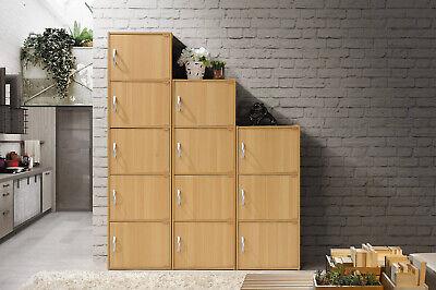 Beech 4-Door Wood Tall Storage Cabinet Home Office Kitchen P