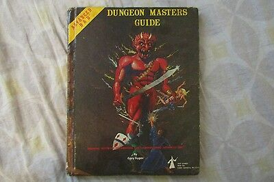 ADVANCED DUNGEONS & DRAGONS DUNGEON MASTERS GUIDE 1979 BOOK D&D GYGAX