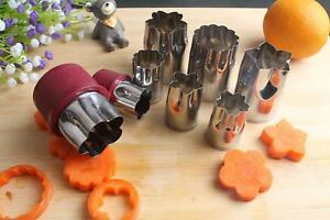 8pc Stainless Steel Flower Shape Cake Vegetable Fruit Cookie Cutter Mold Cutter